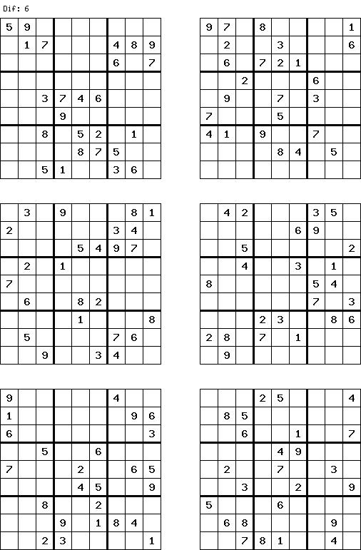 Very Hard Free Sudoku | Free and Printable Sudoku puzzles